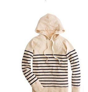 JCrew Striped Hoodie Size S